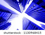new york city blue toned... | Shutterstock . vector #1130968415
