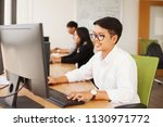 thai office workers working on... | Shutterstock . vector #1130971772