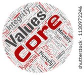 vector conceptual core values...   Shutterstock .eps vector #1130972246
