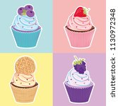 sweet colorful background. cute ... | Shutterstock .eps vector #1130972348