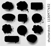 retro black speech bubble with... | Shutterstock .eps vector #1130977652