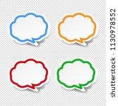 speech bubble collection... | Shutterstock .eps vector #1130978552