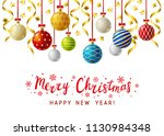 christmas greeting card with... | Shutterstock .eps vector #1130984348