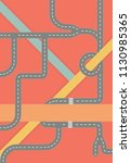 modern graphic roadmaps series... | Shutterstock .eps vector #1130985365