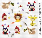 cartoon characters are a... | Shutterstock .eps vector #1130992232