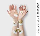 natural beauty hand cosmetics...   Shutterstock . vector #1130993585