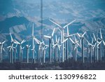 california wind power plant.... | Shutterstock . vector #1130996822