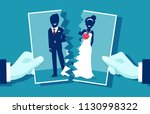 crisis in relationship and... | Shutterstock .eps vector #1130998322