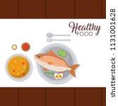 healthy food concept | Shutterstock .eps vector #1131001628