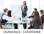 business team gives a...   Shutterstock . vector #1131001868