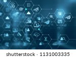 global modern communication   Shutterstock . vector #1131003335