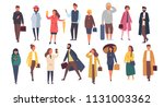 man and woman characters in... | Shutterstock .eps vector #1131003362
