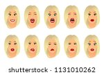 women facial expressions ... | Shutterstock .eps vector #1131010262