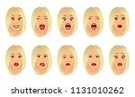 women facial expressions ...   Shutterstock .eps vector #1131010262