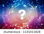 2d illustration question mark ... | Shutterstock . vector #1131011828