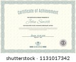 official white certificate of... | Shutterstock .eps vector #1131017342