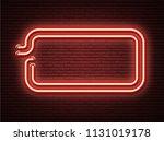red neon luminous signboard on... | Shutterstock .eps vector #1131019178