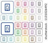 smartphone unlock color flat... | Shutterstock .eps vector #1131026492