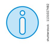 information blue filed icon