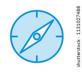 compass blue filed icon