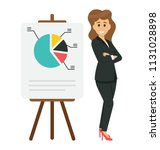 presentation  flat icon female ... | Shutterstock .eps vector #1131028898