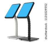 lcd screen stand. trade show... | Shutterstock . vector #1131029552