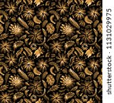 abstract floral seamless... | Shutterstock . vector #1131029975