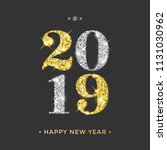 happy new year 2019 greeting...   Shutterstock .eps vector #1131030962