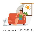 vector illustration a young... | Shutterstock .eps vector #1131035312
