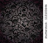 halloween background. ... | Shutterstock . vector #113103646
