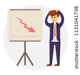 disappointed businessman with...   Shutterstock .eps vector #1131041738