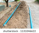water pipes laying construction ...   Shutterstock . vector #1131046622