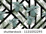 kentia leaves and exotic... | Shutterstock .eps vector #1131052295
