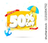 summer sale tag  50  off ... | Shutterstock .eps vector #1131054752