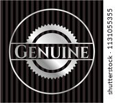 genuine silver shiny emblem | Shutterstock .eps vector #1131055355