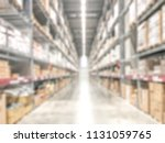 warehouse industry blur... | Shutterstock . vector #1131059765