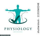 physiology vector logo icon | Shutterstock .eps vector #1131060248