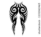 tribal pattern tattoos art ... | Shutterstock .eps vector #1131062465