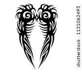 tattoos calf tribal pattern art ... | Shutterstock .eps vector #1131062495