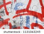 Old Weathered Peeling Graffiti...