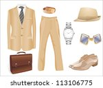 men's clothes and accessories... | Shutterstock .eps vector #113106775
