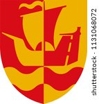 coat of arms of guldborgsund is ... | Shutterstock .eps vector #1131068072