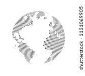 abstract dotted globe earth... | Shutterstock .eps vector #1131069905