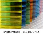 colorful polycarbonate sheets | Shutterstock . vector #1131070715