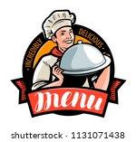 restaurant or cafe menu  logo...   Shutterstock .eps vector #1131071438