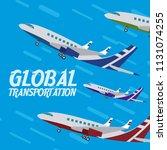 global transportation concept | Shutterstock .eps vector #1131074255