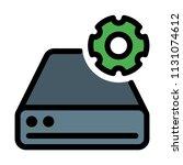 disk drive settings | Shutterstock .eps vector #1131074612