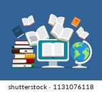 oncept of modern education.... | Shutterstock .eps vector #1131076118