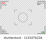 camera rec interface viewfinder ... | Shutterstock .eps vector #1131076226