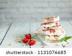 healthy frozen yogurt barks... | Shutterstock . vector #1131076685
